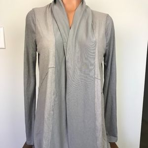 Splendid sweater wrap cardigan grey small
